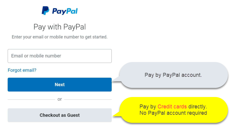paypal guide line